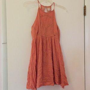 O'Neill soft coral racerback dress